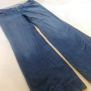 Anthro/Level 99 Twisted Seam Wide Leg Jean